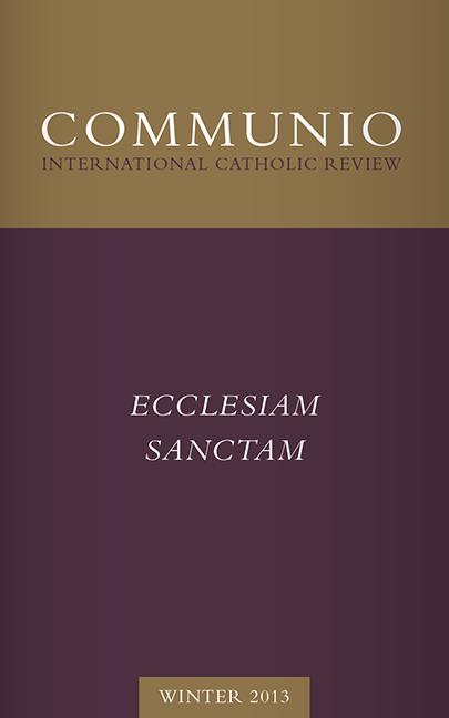 Communio - Winter 2013 - Ecclesiam Sanctam (photocopy)