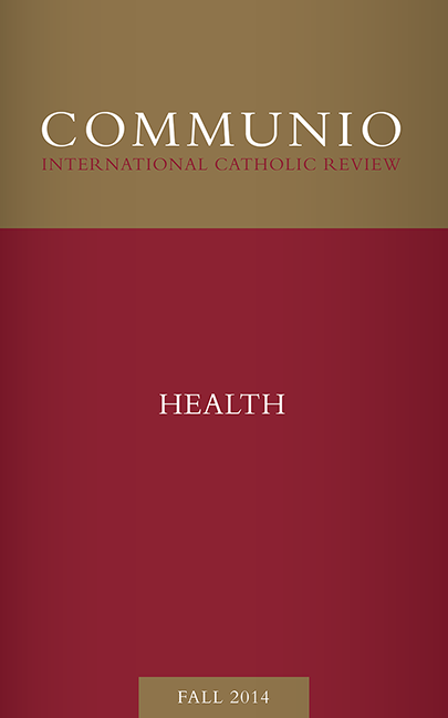 Communio - Fall 2014 - Health
