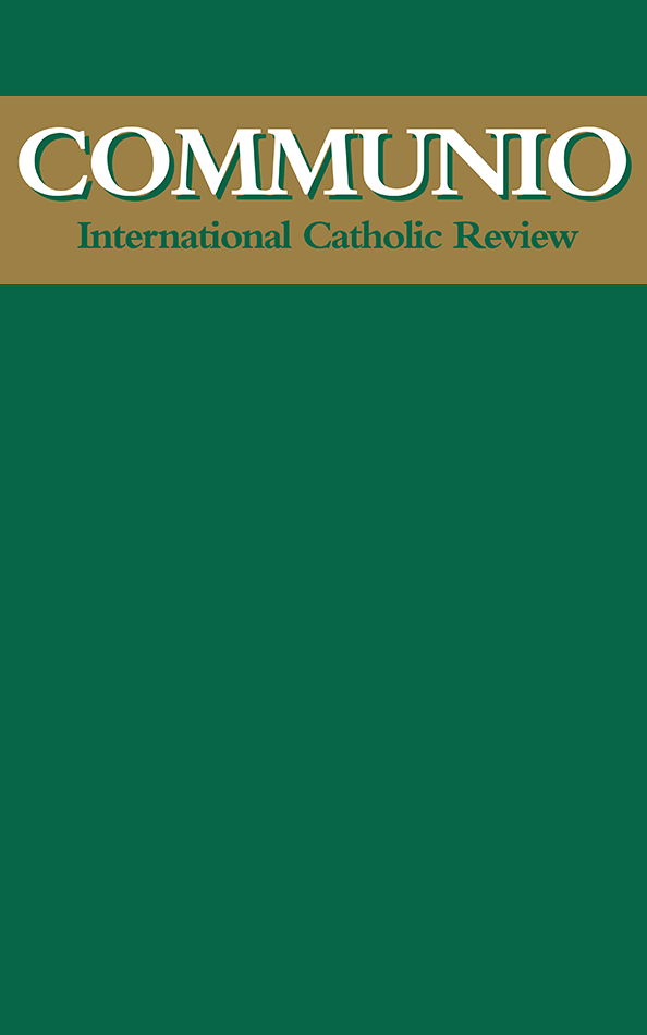 "Communio - Spring-Summer 2012 - ""Keeping the World Awake to God"": The Challenge of Vatican II"